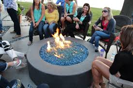 Fire Pit With Lava Rocks - schendel lawn and landscape u0027s concrete fire pit with lava rock and