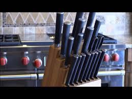ginsu chikara 19 piece cutlery set with bamboo block youtube