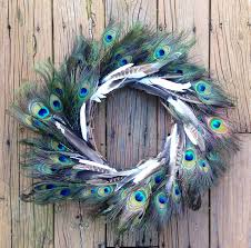 fall door wreath peacock wreath feather wreath door wreath