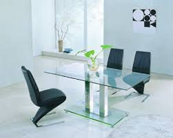 small rectangular glass dining table dining room decoration