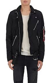 alpha industries black friday alpha industries outlaw tech satin biker jacket barneys new york