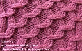 hexagonal embossed stitches free knitting tutorial