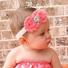 baby hair band lovely ovely unusal cotton baby two roses