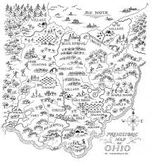Ohio Erie Canal Map by Early Maps Of Ohio Prehistoric Map Of Ohio Prehistoric America
