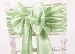 Mint Chair Sashes Taffeta Sashes From Chair Cover Depot