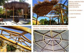 Tiki Hut Paradise Bamboo Materials For Construction Eco Friendly Building Interior