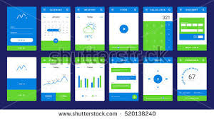 ui layout ui ux gui template layout mobile stock vector hd royalty free