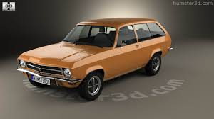 1970 opel 360 view of opel ascona a voyage 1970 3d model hum3d store