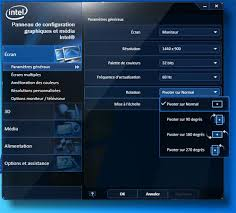 bureau windows à l envers raccourci clavier pour rotation écran