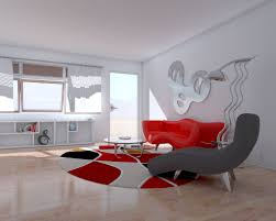 exellent modern living room red ideas simple floral wallpaper