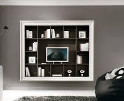 libreria tv parete attrezzata con cornice libreria e porta tv ebay