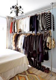 Shelf With Clothes Rod Store Clothes Without A Closet