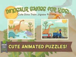 dinosaur games for kids cute dino train jigsaw puzzles for