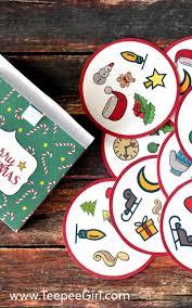 free christmas matching printable game