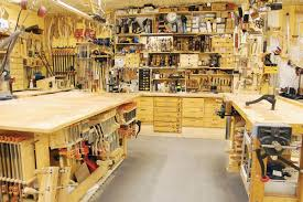 garage shop layout from finewoodworking com woodworking ideas