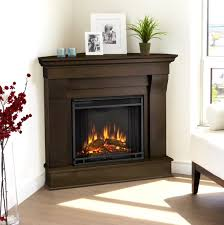 inspirations small corner electric fireplace tv stand