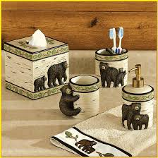 bear bathroom set calls brown bear country bathroom sign outhouse