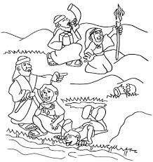 coloring pages gideon coloring page 4 selects his army of 300