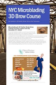 makeup courses in nyc nyc microblading 3d brow course microblading course