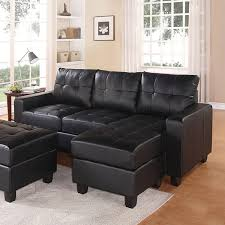 Sectional With Ottoman Lyssa Sectional Sofa Reversible Chaise With Ottoman Bonded Leather