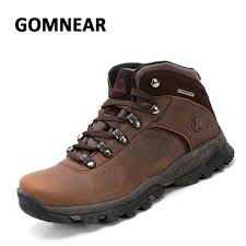 gomnear big size waterproof hiking shoes outdoor mans winter
