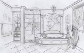 Room Sketch Bathroom Sketch My Conceptual Desgns Pinterest Sketches