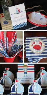 Nautical Party Theme - nautical birthday party decor row row row your boat 1st birthday