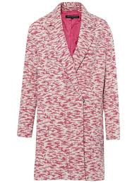 french connection tiger wool blend coat in pink lyst