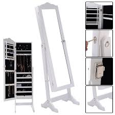 mirror and jewelry cabinet costway lockable mirrored jewelry cabinet armoire mirror organizer