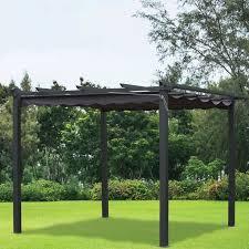 cheap gazebo for sale 3m x 3m charcoal pergola summer garden gazebo buy at qd