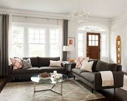 Houzz Living Room Sofas Two Sofa Living Room Design Best Two Couch Design Ideas Remodel