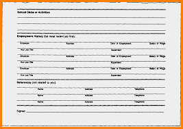 Resume Fill In The Blank In The Blank Resume Formats