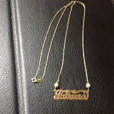14kt gold name necklace 14kt gold vintage name necklace os from s