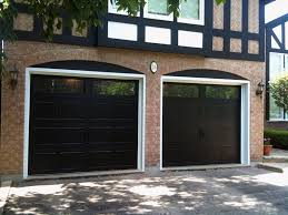 Costco Garage Doors Prices by Outdoor Black Paint Costco Garage Doors With Brick Wall Also