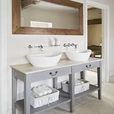 Sink Vanity Units For Bathrooms Neutral Tiled Bathroom With Grey Vanity Unit Grey Vanity Unit