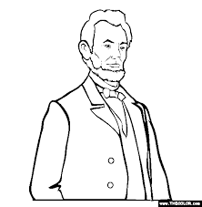 abraham lincoln online coloring page presidents pinterest