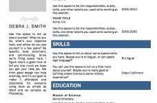 Resume Templates Ms Word Resume Template Ms Word Jospar