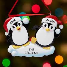 personalized penguin couple christmas ornament walmart com