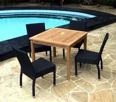 chaises salon de jardin salon de jardin 4 chaises résine avec table carrée en teck achetez