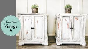 How To Repaint A Nightstand How To Paint White Furniture Youtube