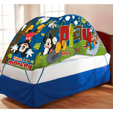mickey mouse bed tent with colorful color and rectangle blue and