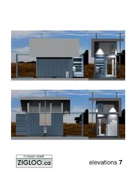 flyaway home zigloo custom container home design