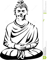 buddha tattoo design stock vector image of devotion statue 8835195