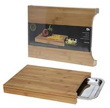planche à découper cuisine planche à découper bois bambou 4cm hauteur avec réservoir