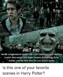 Neville Longbottom Meme - fact 182 neville longbottom s battle with lord voldemort was