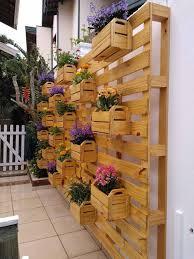 jardín palet vertical de madera de la pared de la decoración del