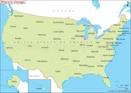 in us map chicago on the us map chicago map chicago maps illinois us maps