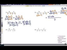 how to add or subtract rational expressions problem set 4 youtube