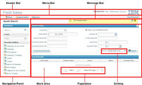 ui layout understanding the ibm sterling field sales application user interface
