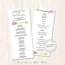tea length wedding program template 54 best wedding program images on wedding program